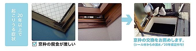 窓枠の腐食