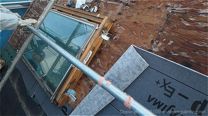 天窓の雨漏り改修工事