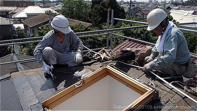 天窓改修工事