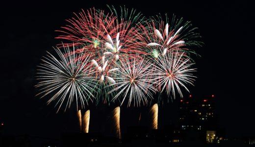 ルーフバルコニーから見える打ち上げ花火