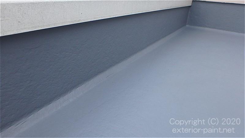 FRP防水トップコート塗装 完成
