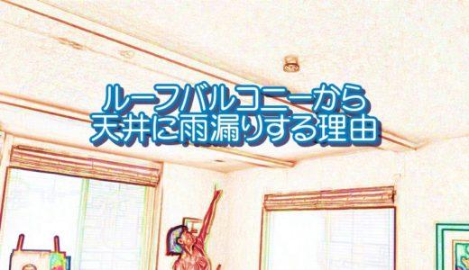 【実例解説】ルーフバルコニーから天井に雨漏りする理由