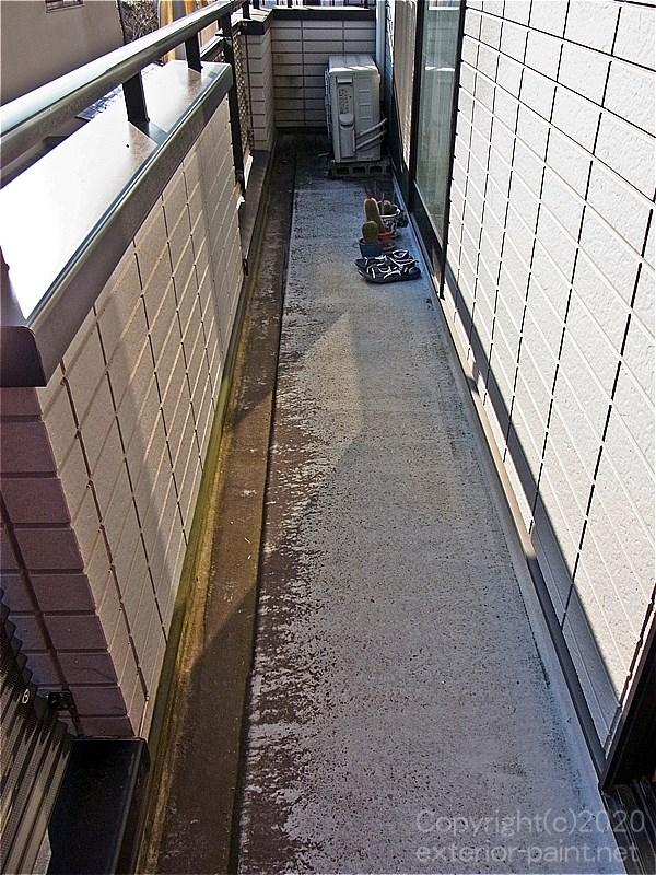 経年劣化のみのFRP防水の床