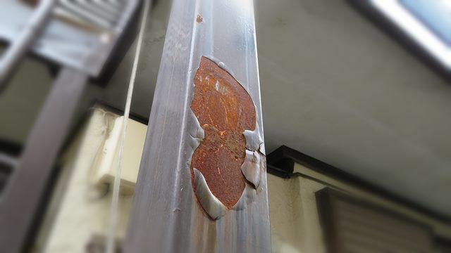 鉄骨柱の錆び