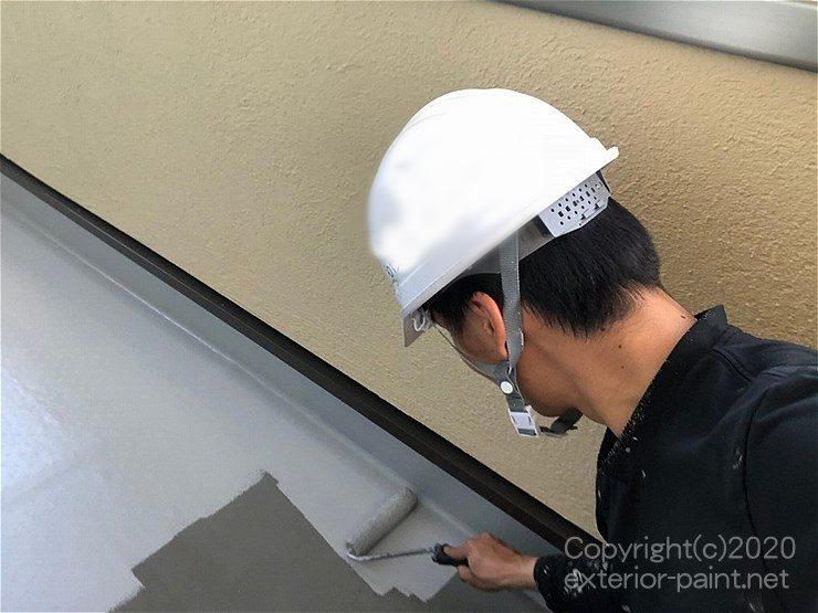 塩ビシート防水の塗装