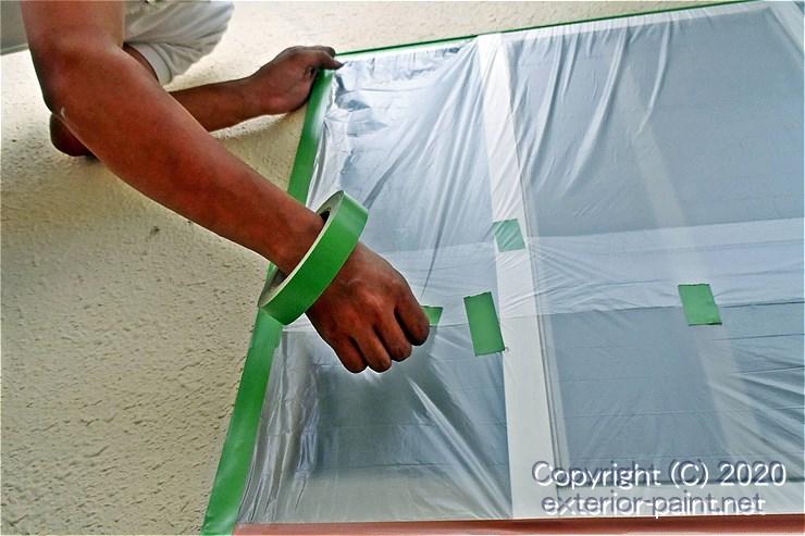 塗装職人のガムテープの持ち方