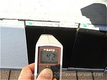 20120年7月10日17時-遮熱塗料実験-黒で塗った「塗り板」の比較
