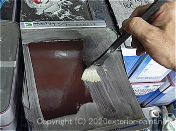 見本板にもシーラーを塗ります