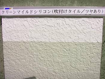 ①クリーンマイルドシリコン(吹付けタイル・ツヤあり)