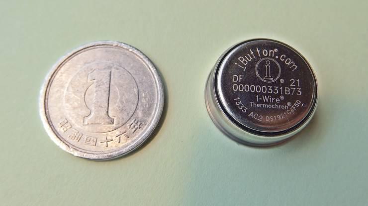 サーモクロンと1円玉の比較