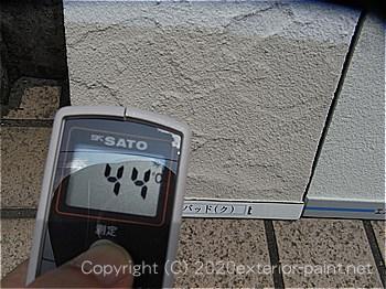 20120年7月10日12時-遮熱塗料実験ガイナを中心とした様々な塗り板の温度の比較