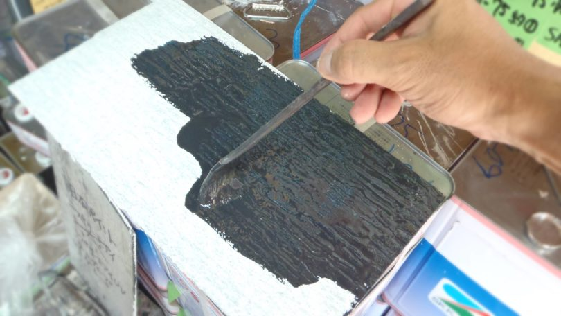 屋根材遮熱塗料を塗装