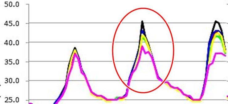 2014年 水谷ペイントの実験結果表-詳細