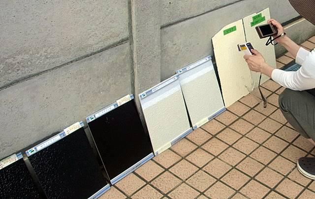 遮熱塗料温度測定 2012年7月17日