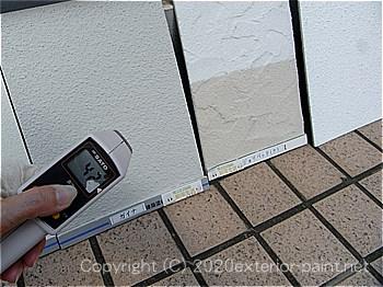 2012年8月7日14時-遮熱塗料実験