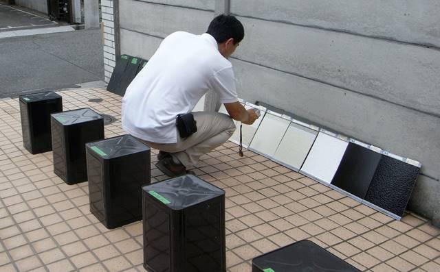 遮熱塗料温度測定 2012年7月5日