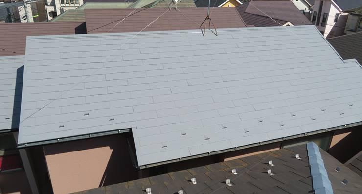 グレーの遮熱塗料で塗った屋根