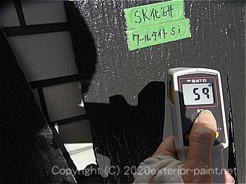 2012年8月23日スレート屋根-遮熱塗料実験
