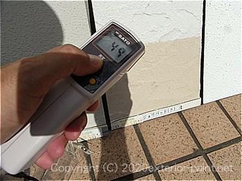 2012年8月13日-ガイナを中心とした外壁用遮熱塗料実験