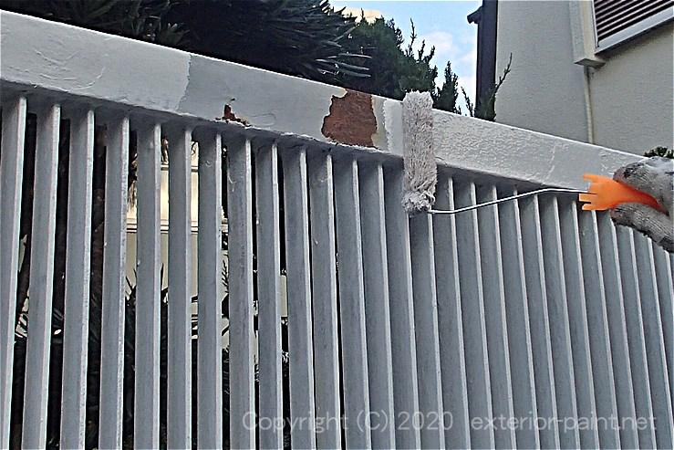 鉄部の錆止め(白)