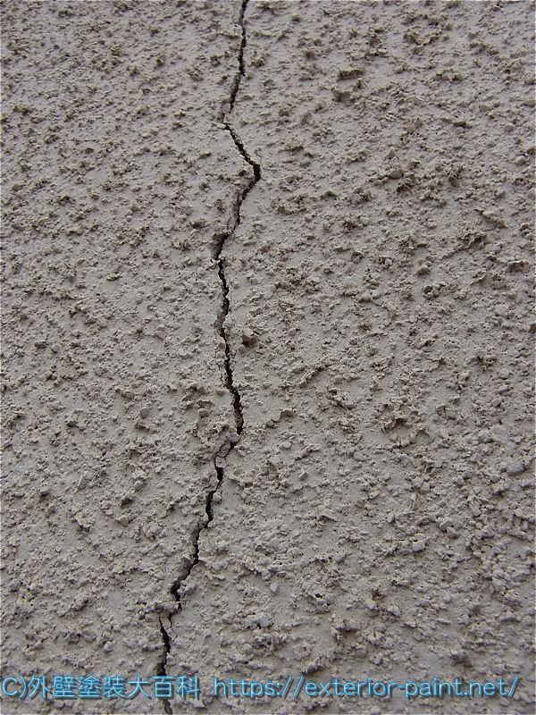 リシン吹付け外壁のヒビ割れ